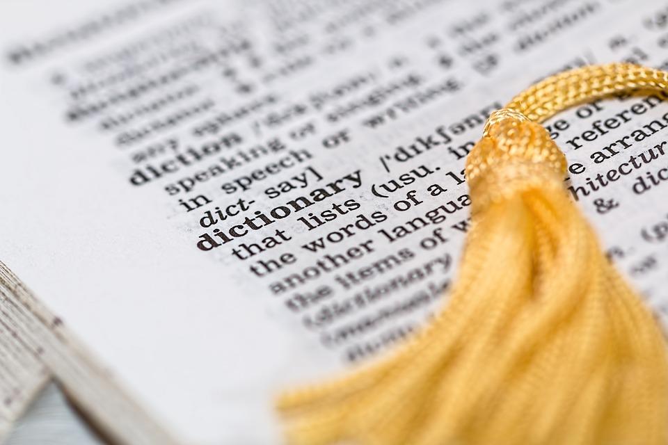 Страница словаря