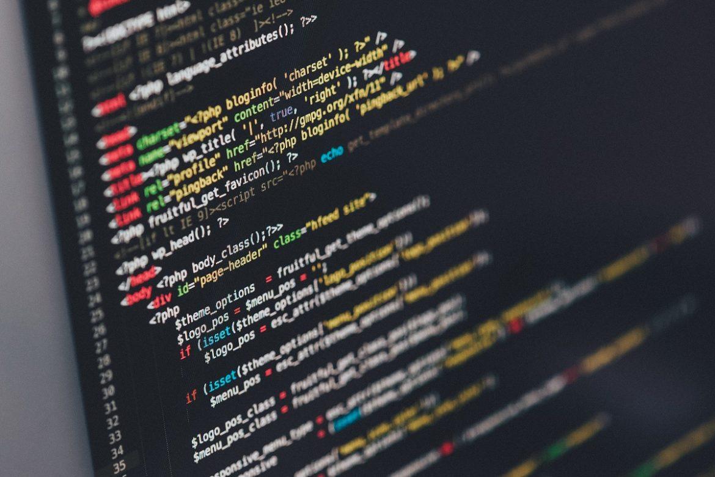 Экран монитора с фрагментом кода
