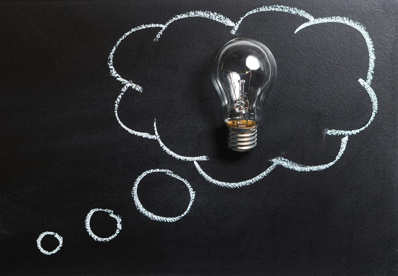 Лампочка как символ идеи