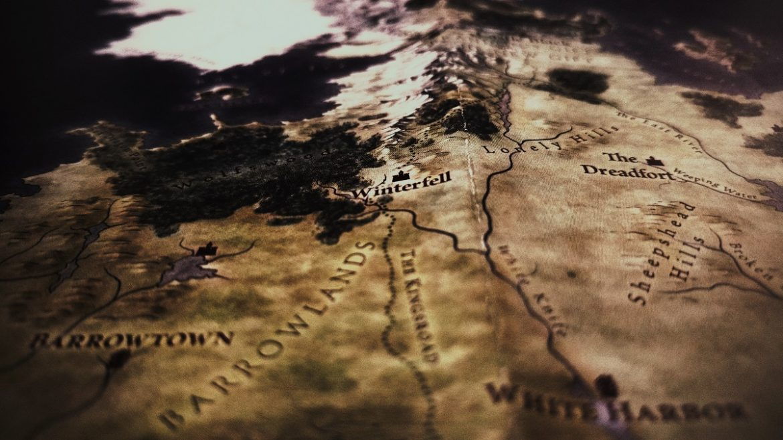 Стара мапа, посередині напис Winterfell